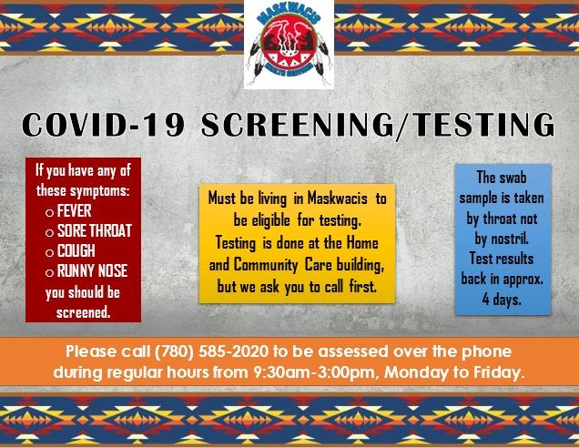 COVID-19 Screening/Testing Information