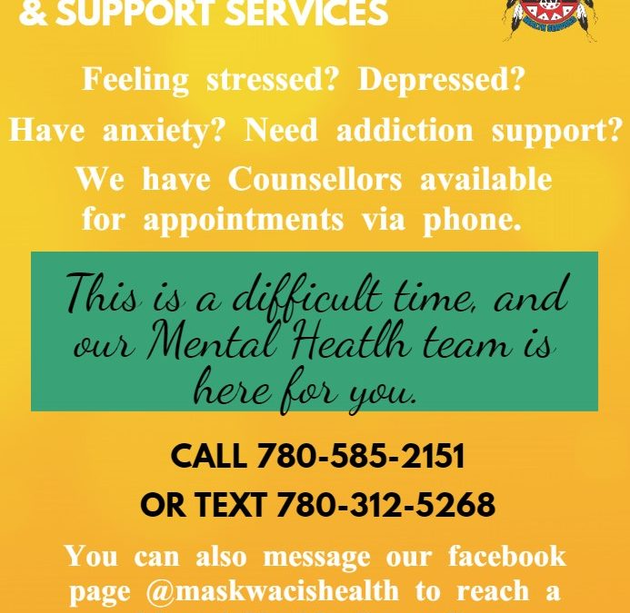 Maskwacis Counselling and Support Services Phone Number Change