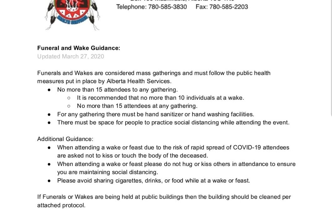 Updated Funeral and Wakes Guidelines