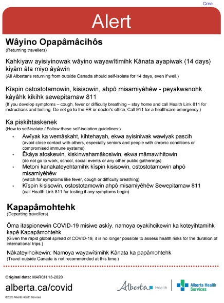COVID-19 Information for Returning / Departing Travellers