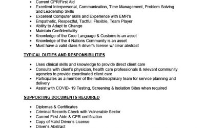 Employment Opportunity – Registered Nurse (2 positions)