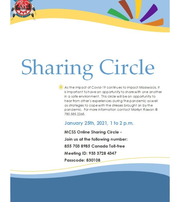 """Maskwacis Counselling Support and Services """"COVID-19 sharing circle"""""""