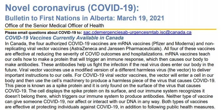 Types of COVID-19 Vaccines in Canada