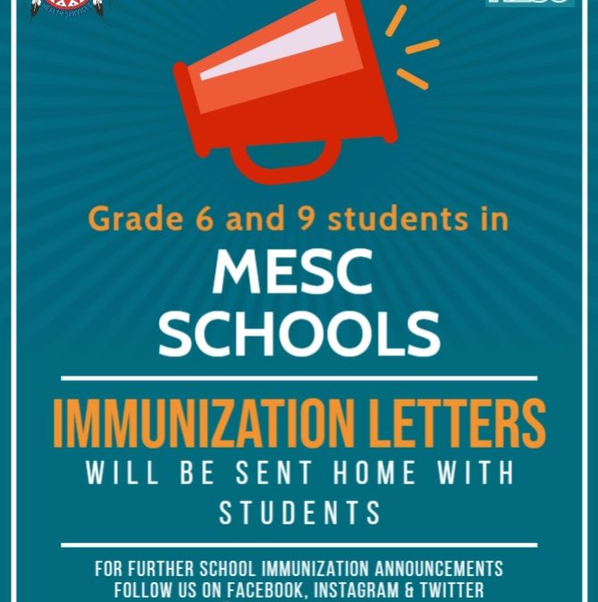 Grade 6 & 9 in School Immunizations