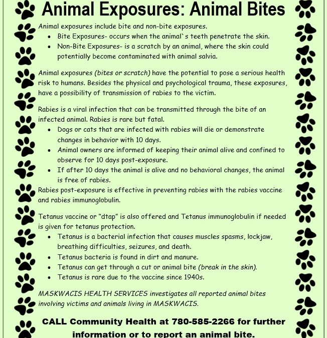 Animal Bite Exposures Information