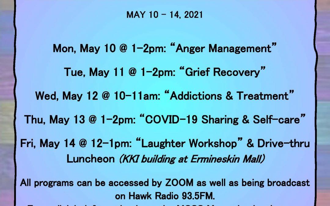 KKI / MCSS Mental Health Week virtual workshops